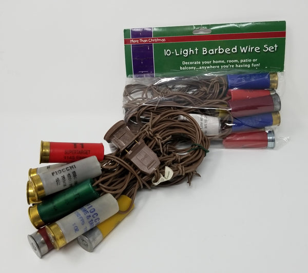 Light Set - Shotgun Shell Barbed Wire Light Set -10 Lights - Multi-Color