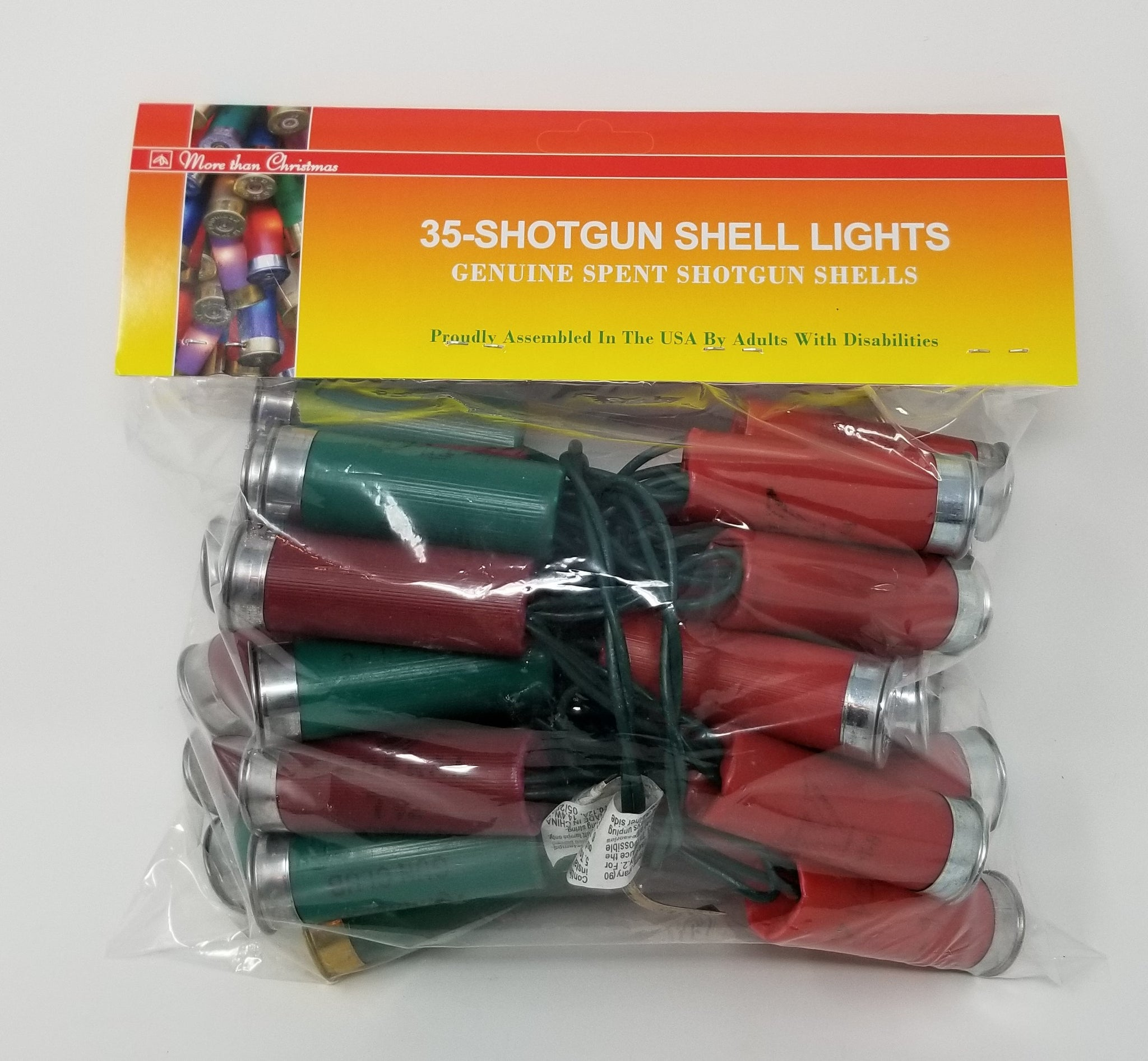 Light Set - Shotgun Shell Light String - 35 Lights - Red/Green