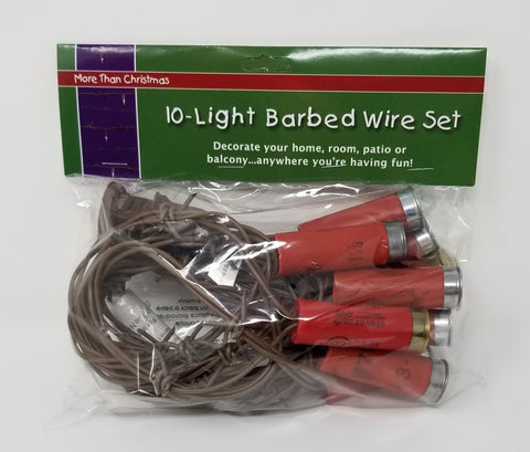 Light Set - Shotgun Shell Barbed Wire Light Set 10 Lights - Red