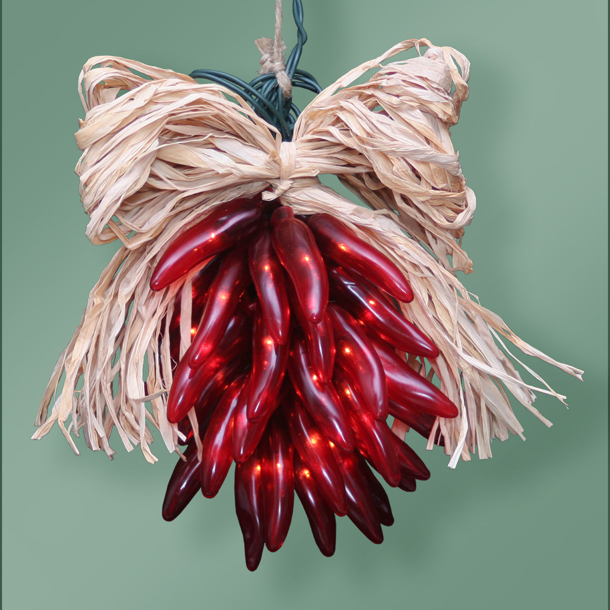 Chile Pepper Lighted Rista - 35 Lights - Red