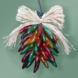 Chile Pepper Lighted Ristra - 35 Lights- Red/Green/Yellow