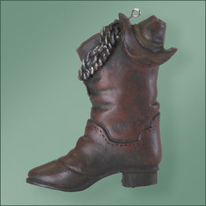 Polyresin - Cowboy Boot and Hat Ornament