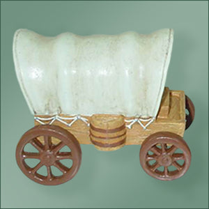 Polyresin - Covered Wagon Ornament
