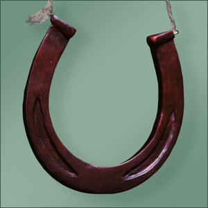 Polyresin - Horseshoe Ornament - Dark Brown