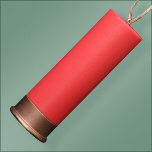Polyresin - Shotgun Shell Ornament - Red