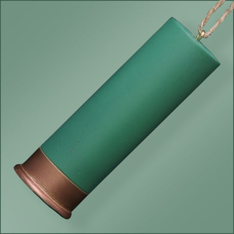 Polyresin - Shotgun Shell Ornament - Green
