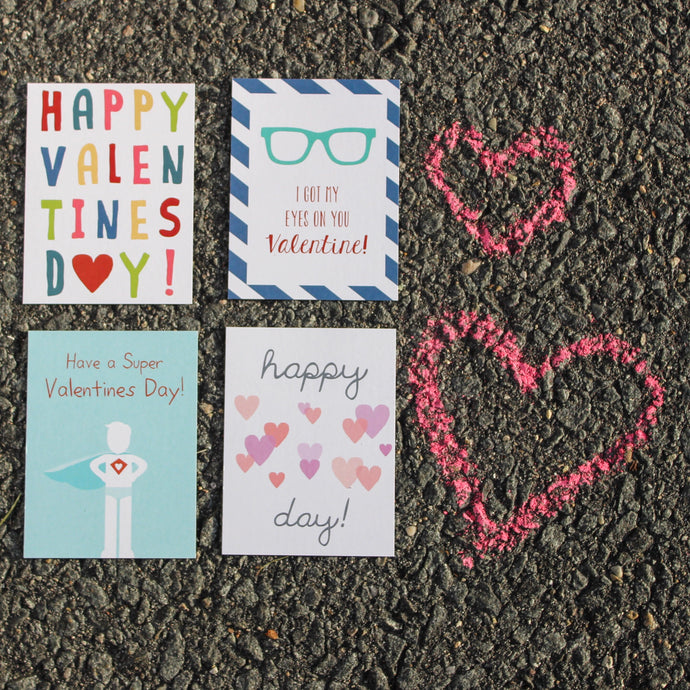 Frella Designs Valentines with stickers and envelopes (12 count)