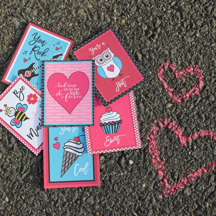 CaraMae Valentines with stickers and envelopes (12 count)