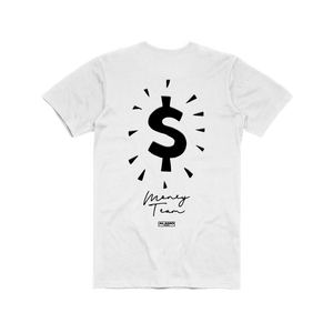 Money Team T-Shirt - Reversed White