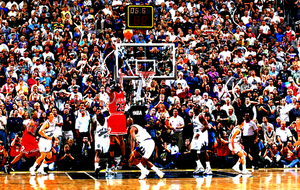 The Greatest Of All Time... Michael Jordan's last 3 mins. as a Chicago Bull