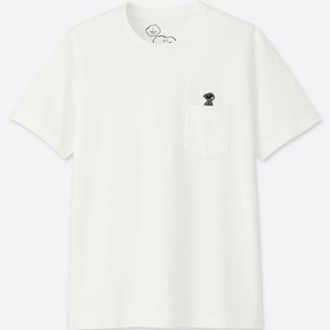 "KAWS - PEANUTS MEN'S POCKET TEE BLACK EDITION ""SNOOPY"""
