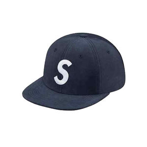 SUPREME - SUEDE S LOGO 6 PANEL - NAVY