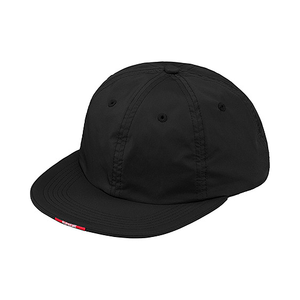 SUPREME - NYLON VISOR LABEL 6 PANEL - BLACK (F/W 2017)