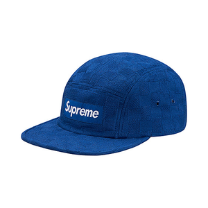 SUPREME - CHECKER WEAVE CAMP CAP - ROYAL (F/W 2017)