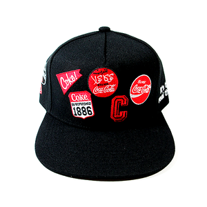 "COCA COLA - ADJUSTABLE SNAPBACK HAT ""PATCHES"""