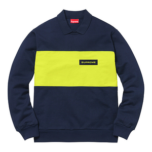 SUPREME - POLO CREW NECK - NAVY (F/W 2017)