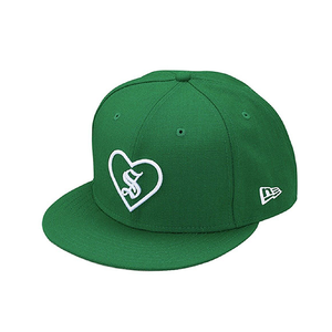 "SUPREME - ""HEART"" NEW ERA - GREEN (F/W 2017)"