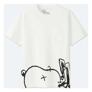 "KAWS - PEANUTS MEN'S POCKET TEE ""SNOOPY"""