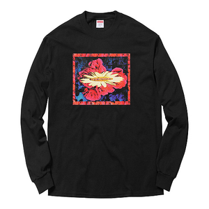 "SUPREME - ""BLOOM"" LONG SLEEVE TEE - BLACK (F/W 2017)"