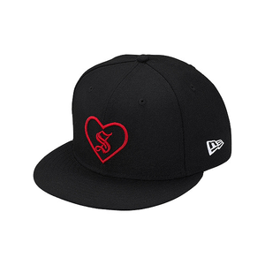"SUPREME - ""HEART"" NEW ERA - BLACK (F/W 2017)"