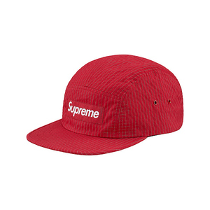 SUPREME - OVERDYED RIPSTOP CAMP CAP - RED (F/W 2017)