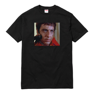 "SUPREME - ""SCARFACE SHOWER"" TEE - BLACK (F/W 2017)"