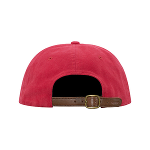 SUPREME - BRUSHED TWILL SCRIPT 6 PANEL - RED (F/W 2017)