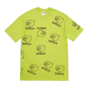 "SUPREME - ""GONZ HEADS"" TEE - LIME (F/W 2017)"