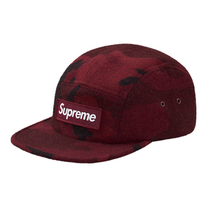 "SUPREME - CAMP CAP ""CAMO WOOL"" - BURGUNDY (F/W 2017)"
