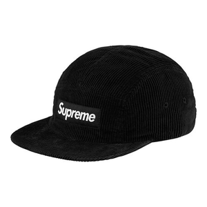 "SUPREME - CAMP CAP ""CORDUROY"" - BLACK (S/S 2018)"