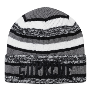 "SUPREME - BEANIE ""HEATHER STRIPE"" - BLACK (F/W 2017)"