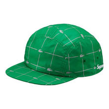 "SUPREME - NYLON CAMP CAP ""LACOSTE REFLECTIVE GRID"" - GREEN (S/S 2018)"