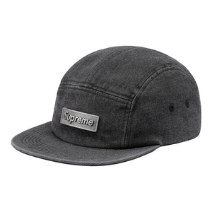 "SUPREME - CAMP CAP ""METAL PLATE"" - BLACK (S/S 2018)"