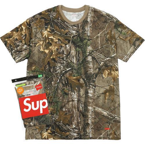 SUPREME - HANES REALTREE TEES 2 PACK - WOODBINE (F/W 2017)