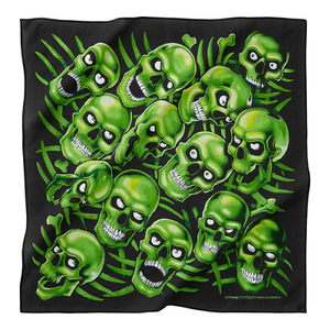 SUPREME - SKULL PILE BANDANA GLOW IN THE DARK - BLACK (S/S 2018)