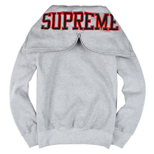 "SUPREME - ZIP UP SWEATSHIRT ""SPLIT HOOD"" - GREY (S/S 2016)"