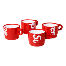 SUPREME - STACKING CUPS (SET OF 4) - RED (S/S 2018)