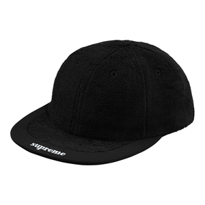 "SUPREME - 6-PANEL ""TERRY VISOR LOGO"" - BLACK (S/S 2018)"