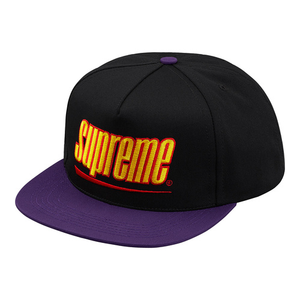 "SUPREME - 5-PANEL ""UNDERLINE"" - BLACK (S/S 2018)"