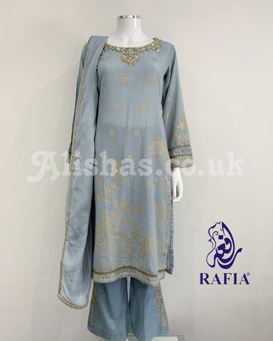 RAFIA Fancy Jacquard Kameez Suit