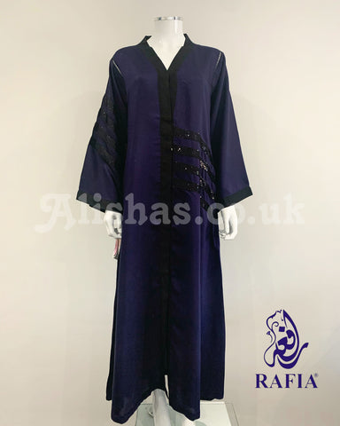 RAFIA Navy Blue Jacket Abaya
