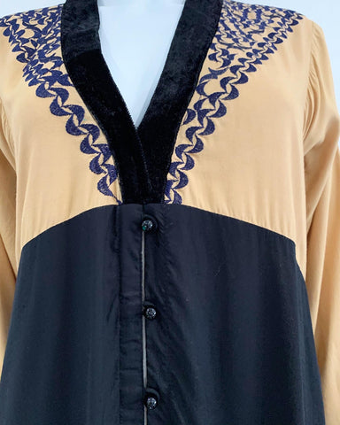 RAFIA Ladies Abaya with Chiffon Duppata
