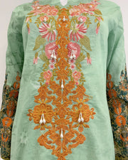 Green Printed Lawn Suit
