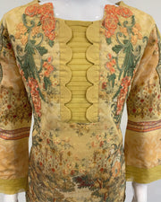 Girls Gold Printed Suit