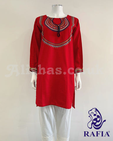 RAFIA Kurti with Slight Hem