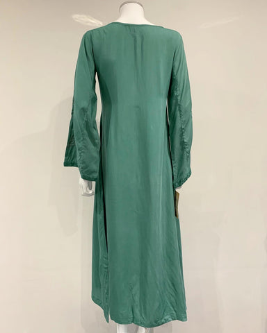RAFIA Ladies Sea Green Abaya with Chiffon Duppata