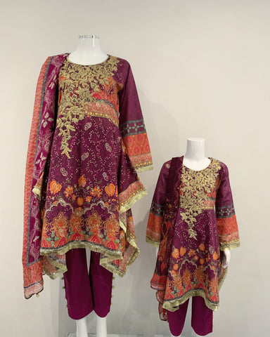 TEHZEEB Ladies Lawn Frock Suit