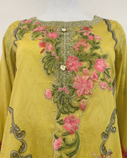 RAFIA Designer Yellow Printed Lawn Suit