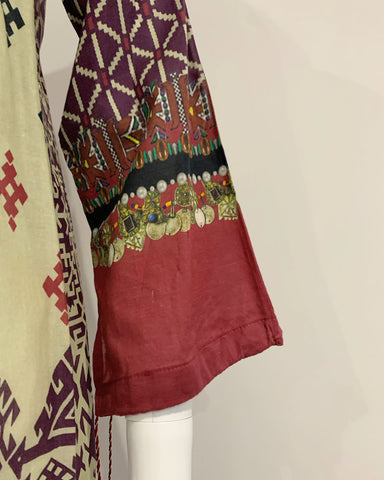 Embroidered Lawn Printed Kurta