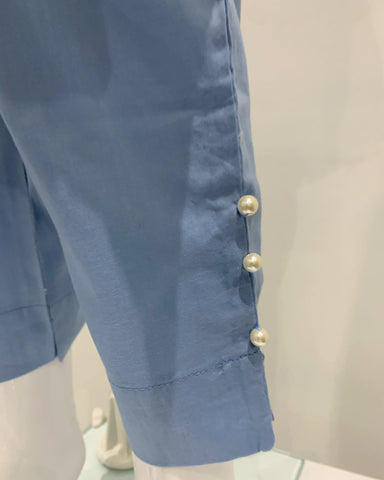 Light Blue Girls Lawn Dress Suit